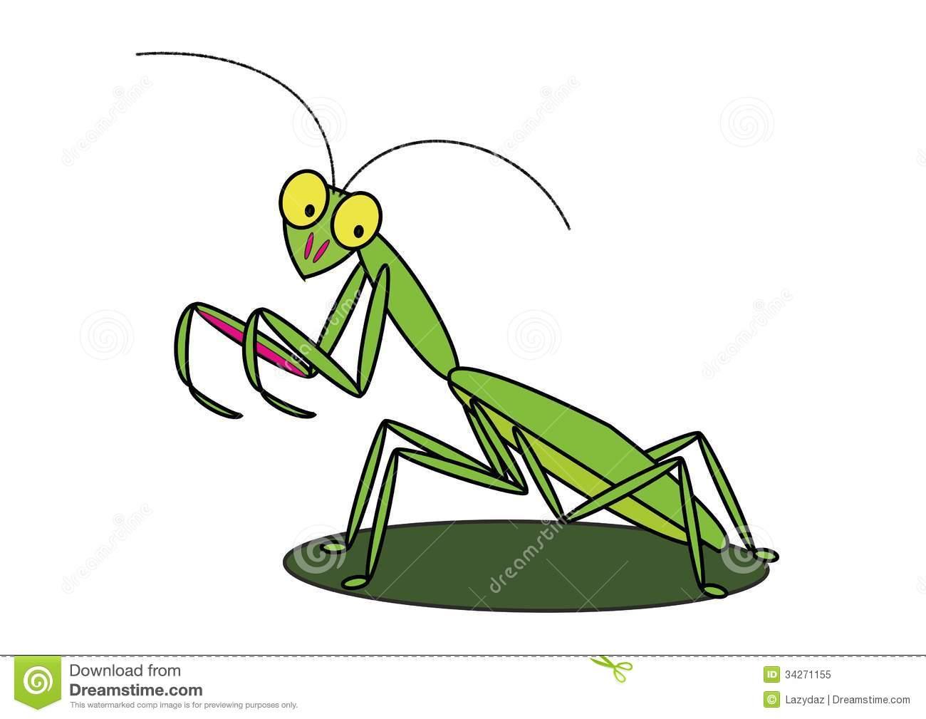 Mantis Cartoon Clipart.