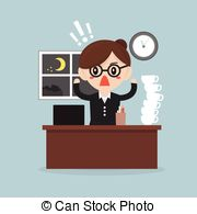 Vector Clip Art of Business man too late csp34613614.