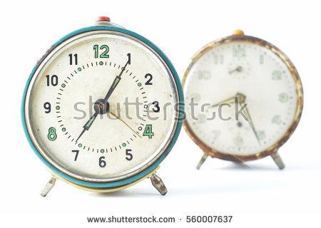 Vintage Alarm Clock Stock Photos, Royalty.