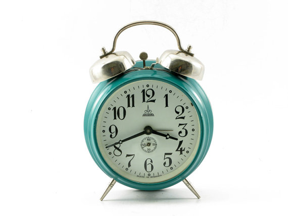 Large vintage twin bell alarm clock manual by OldishButGoldish.