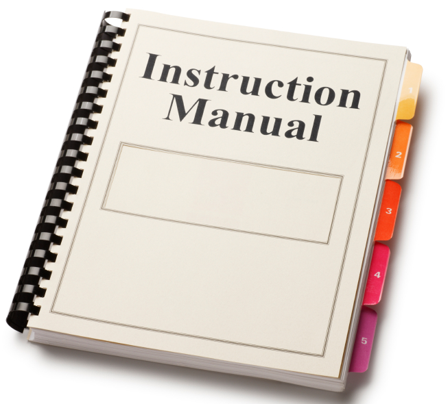 Clipart manual book.