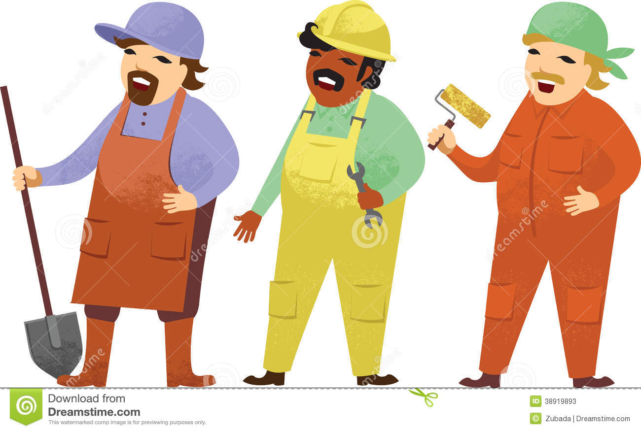 Cartoon Workman Hard Hat Stock Photos, Images, & Pictures.
