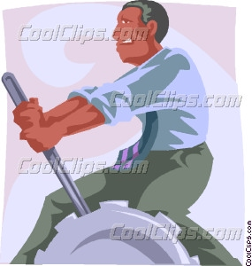 man switching gears manually Vector Clip art.