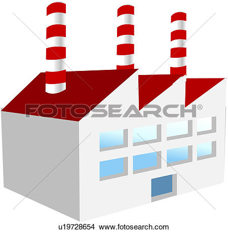 Clipart of manufactory, plant, workshop, work, mill, icon.