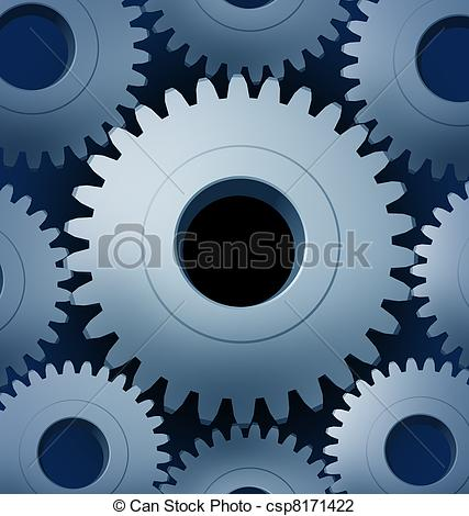 Clip Art of Industry and manufacturing with a close.