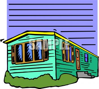 Manufactured home clipart.