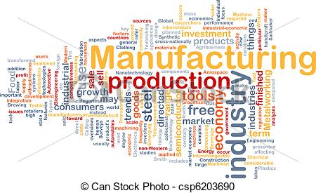 Stock Illustration of Manufacturing background concept.