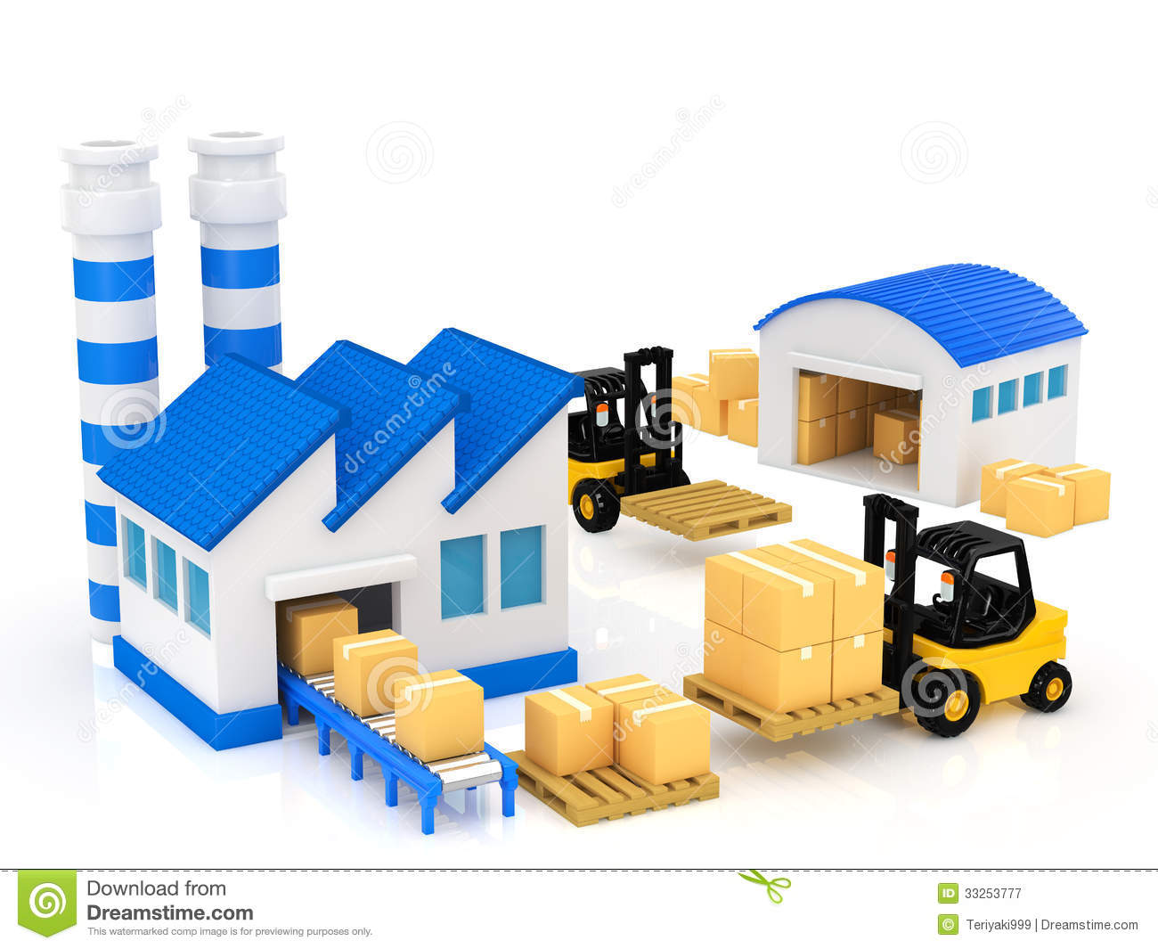 Manufacturing stock illustration. Illustration of package.