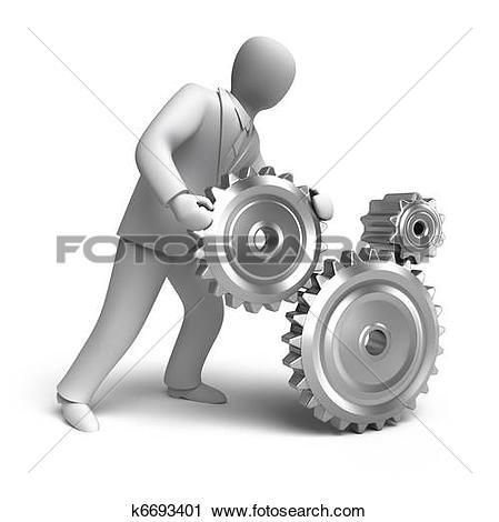 Stock Illustrations of Business engineering in progress k6428530.