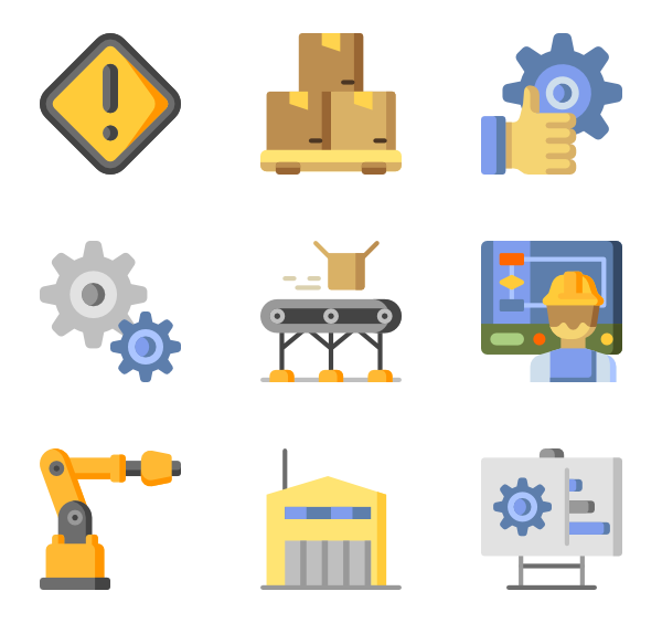 89 manufacturing icon packs.