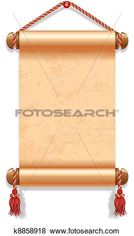 Clip Art of Manuscript k8858918.
