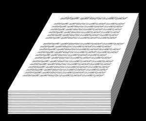 Manuscript medium 600pixel clipart, vector clip art.