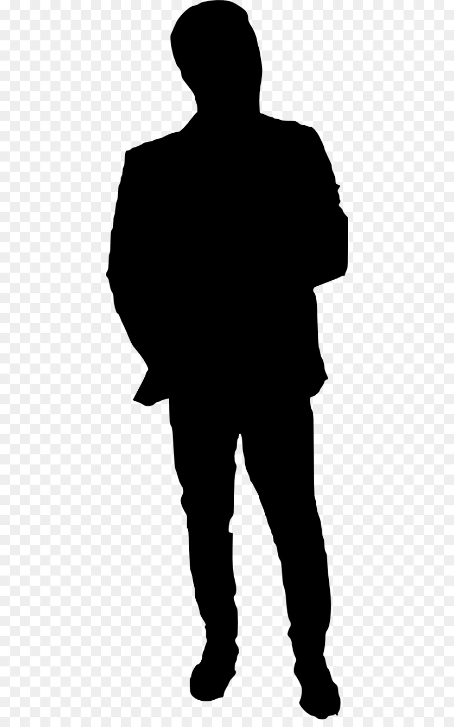 Silhouette Black png download.
