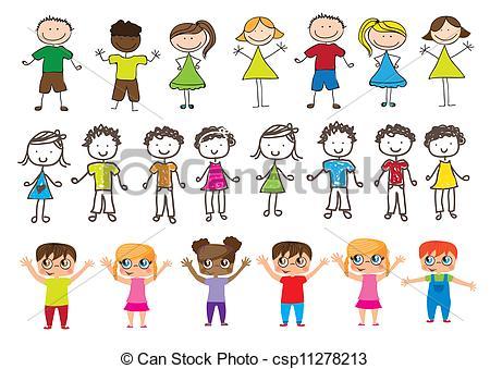 Vector Clip Art of Children.