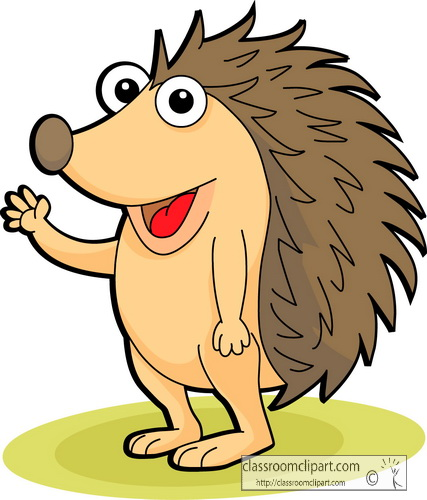 Animated hedgehog clipart.