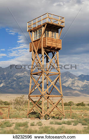 Stock Images of manzanar guard tower k8232596.