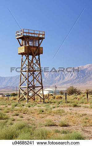 Stock Photography of manzanar national historic site internment.