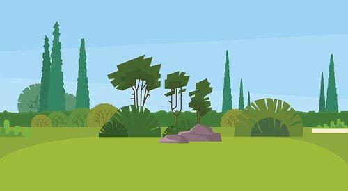 Green Park orman açık doğa manzara Clipart Image.