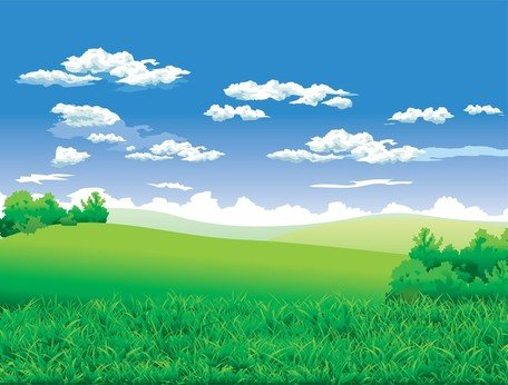 Güzel kırsal manzara Clipart Picture Free Download.