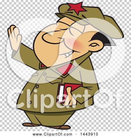 Clipart of a Cartoon Man, Mao Zedong, Holding up an Arm.