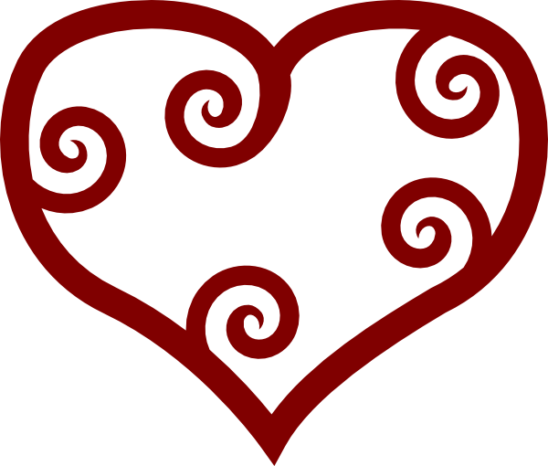 Valentine Red Maori Heart clip art Free Vector / 4Vector.