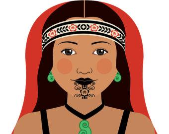 Maori clipart.