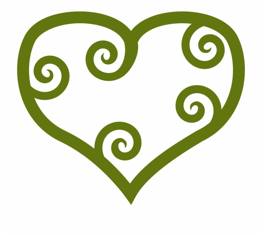 Maori Designs Love Heart.