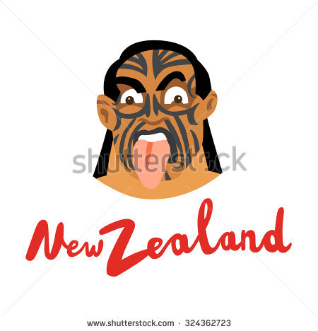Maori Haka Stock Images, Royalty.