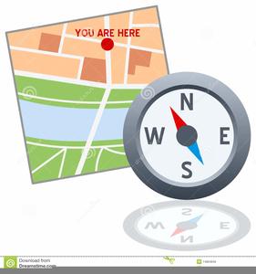 Clipart Map Compass.