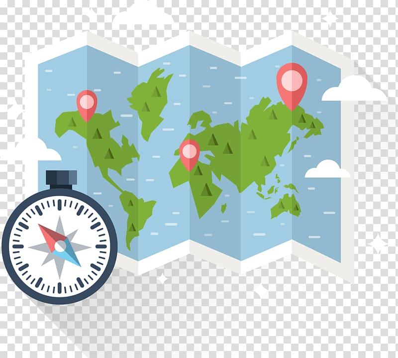 North Compass rose Euclidean Map, Orienteering map compass.