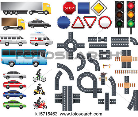 Clip Art of Map icon legend symbol sign toolkit k6854348.