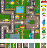 Kids road map clipart.