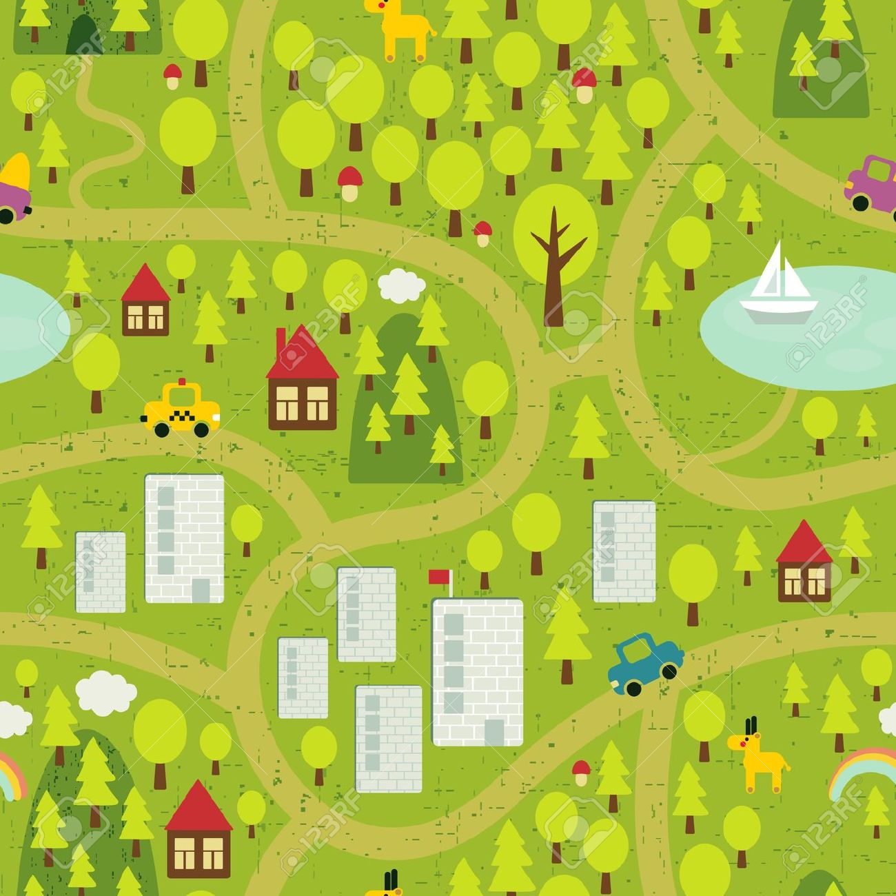 5,531 Small Town Stock Vector Illustration And Royalty Free Small.