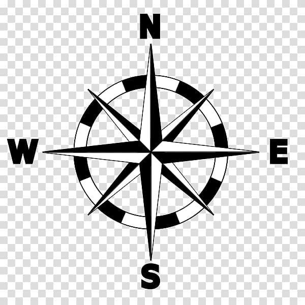 North Compass rose Map , compass transparent background PNG.