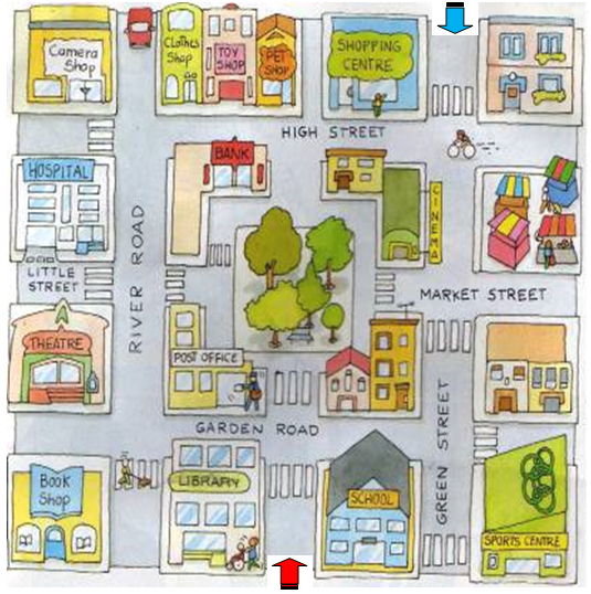 Image result for map for teaching directions.