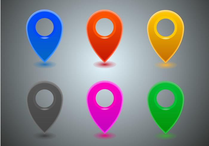 Free Map Icons Vector.