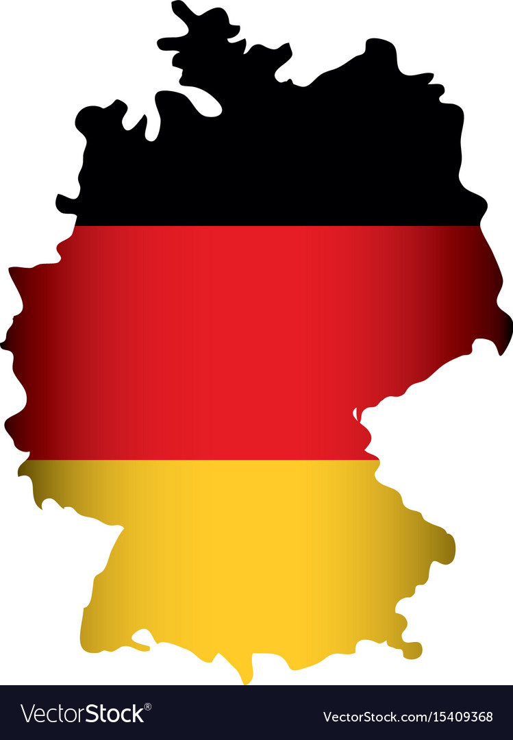 Germany country map icon.