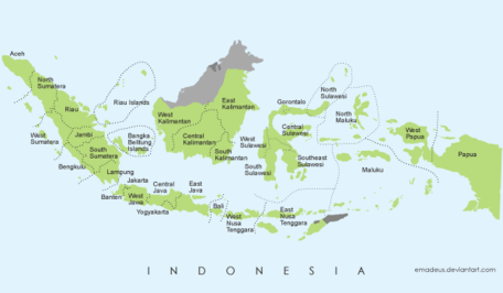 Free Vector Map of Indonesia Clipart Picture Free Download.