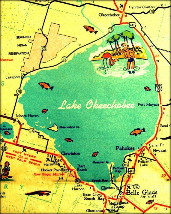 Lake map key clipart.