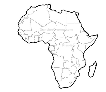 Maps of Africa: Clip Art Map Set.