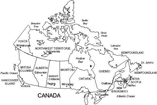 Maps For Design • Editable Clip Art PowerPoint Maps: Canada.