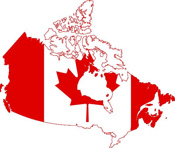 Canada Flag Map Clip Art at Clker.com.