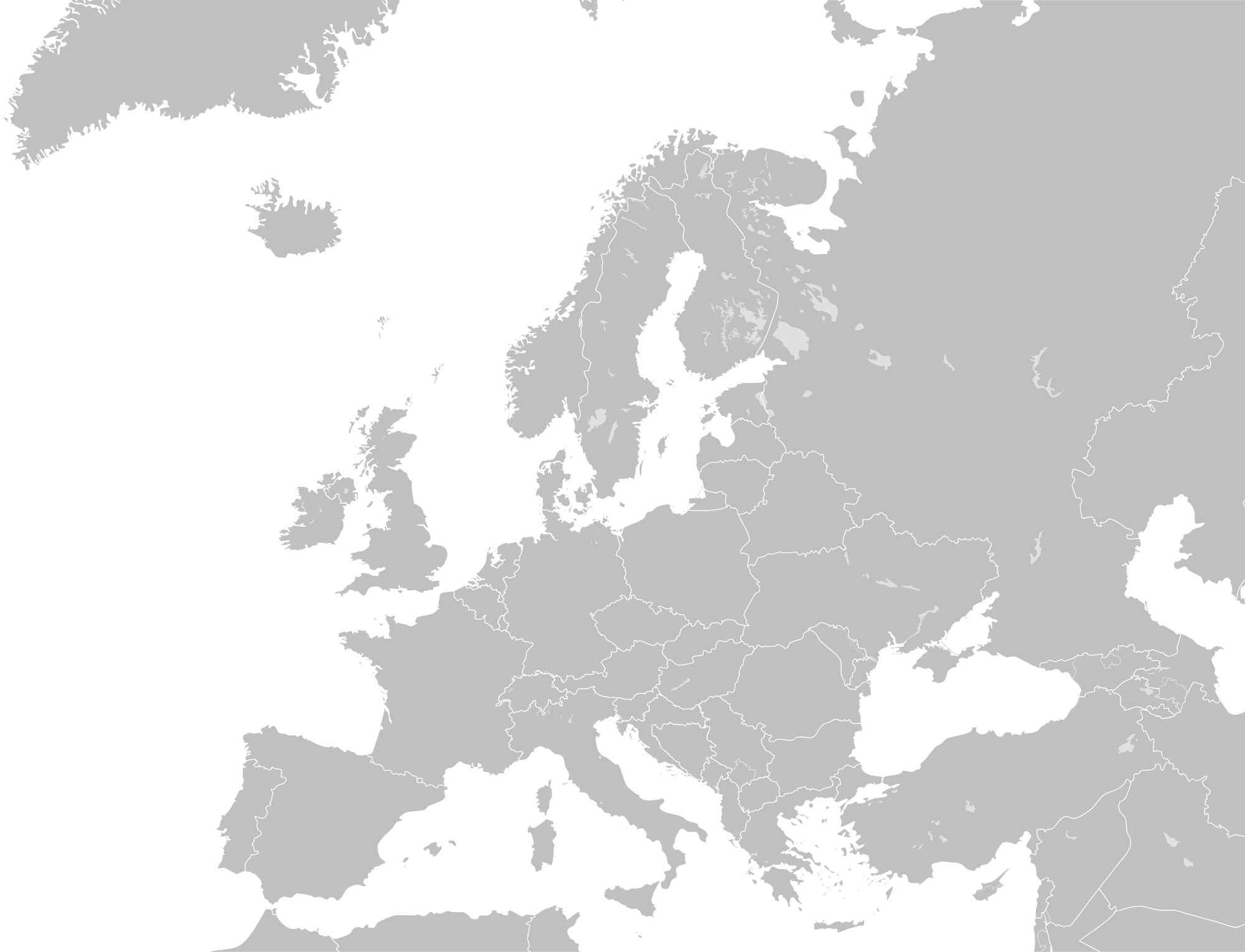 PNG Europe Map Transparent Europe Map.PNG Images..