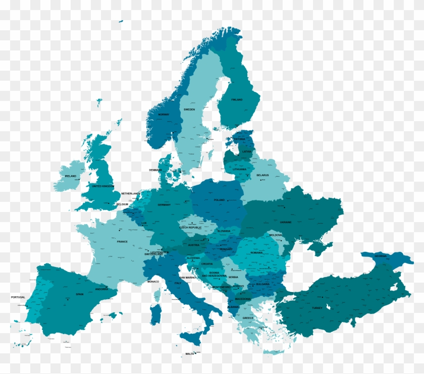 Graphic Vector Map Europe.
