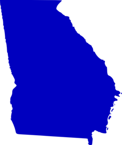 Georgia Map Clipart.