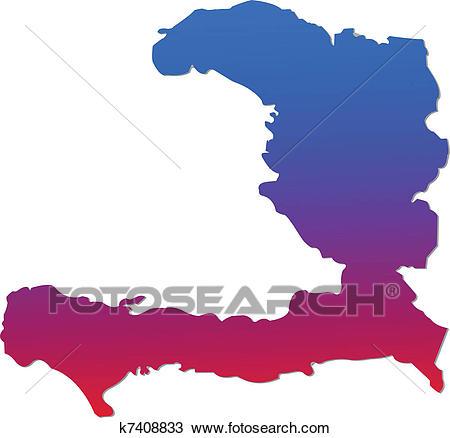 Haiti Map Clipart.