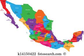 Mexico map Clipart Vector Graphics. 1,923 mexico map EPS clip art.