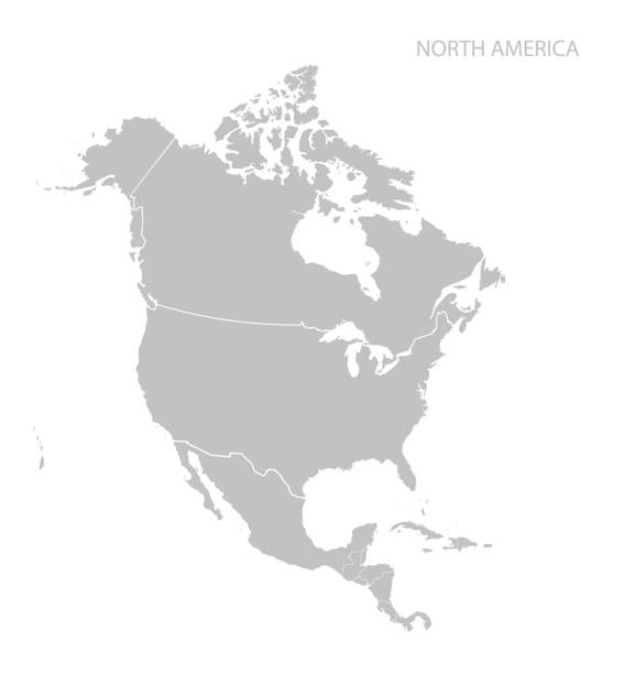 Best North America Maps Illustrations, Royalty.