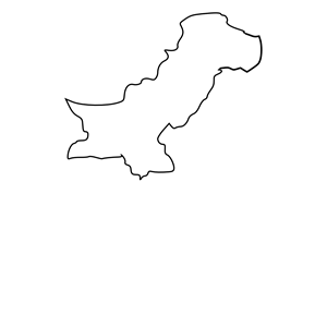 Black Outline Map of Pakistan clipart, cliparts of Black.