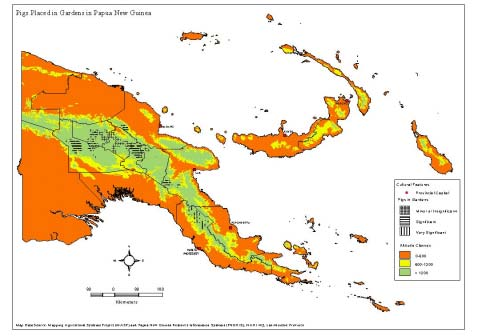 Map of Papua New Guinea showing provincial boundaries to.